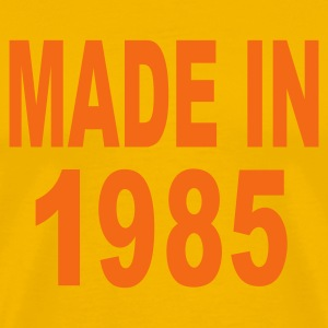Gold Made in 1985 T-Shirts - Men's Premium T-Shirt