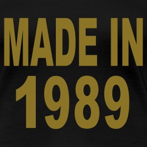 Black Made in 1989 Plus Size - Women's Premium T-Shirt