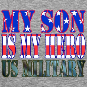 Ash  MY SON IS MY HERO US MILITARY T-Shirts - Men's Premium T-Shirt
