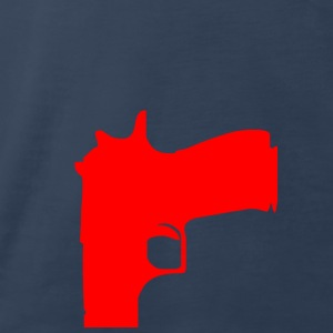 gun (red) T-Shirts - Men's Premium T-Shirt
