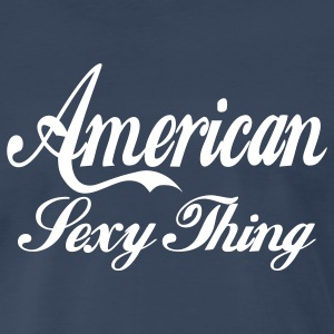 Navy american sexy thing T-Shirts - Men's Premium T-Shirt