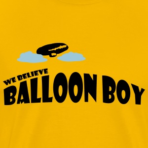 Gold Balloon Boy T-Shirts - Men's Premium T-Shirt