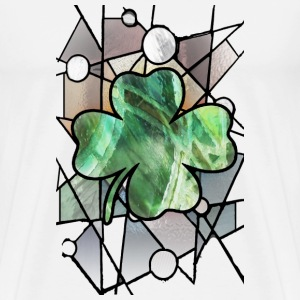 Shamrock Stained Glass - Men's Premium T-Shirt