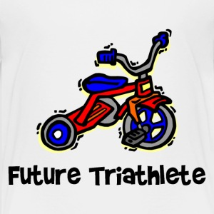 White Future Triathlete Tricycle Toddler Shirts - Toddler Premium T-Shirt