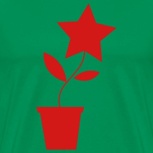 Forest green star flower pot plant cute etsy inspired T-Shirts - Men's Premium T-Shirt