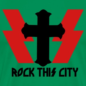 Forest green ROCK THIS CITY T-Shirts - Men's Premium T-Shirt