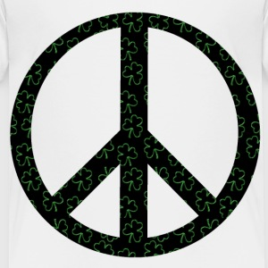 White Clover Peace Sign Toddler Shirts - Toddler Premium T-Shirt