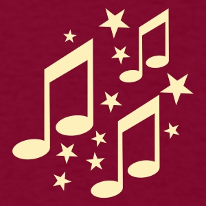 Burgundy note - notes - music T-Shirts - Men's T-Shirt