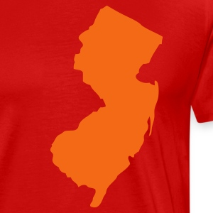 Red New Jersey Silhouette  T-Shirts - Men's Premium T-Shirt