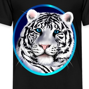Framed White Tiger Face - Toddler Premium T-Shirt