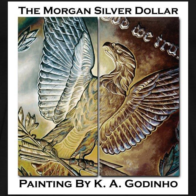 Morgan Silver Dollar Reverse Men's Black T-Shirt