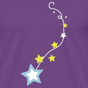 Purple stars on a line T-Shirts - Men's Premium T-Shirt