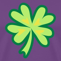 Purple good luck clover 4 leaf T-Shirts