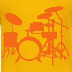 Yellow Drums Kids' Shirts