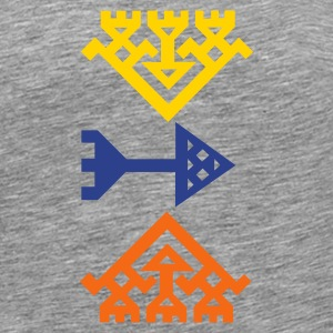 Heather grey Kilim Flake T-Shirts - Men's Premium T-Shirt