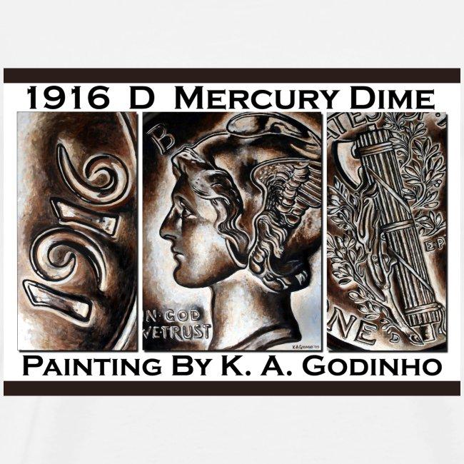 1916 D Mercury Dime Men's T-shirt