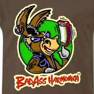 Design ~ BadAss Harmonica 3XL t-shirt (brown)
