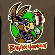 Design ~ BadAss Harmonica 3XL t-shirt (brown)
