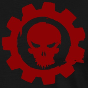 Black cog and skull T-Shirts - Men's Premium T-Shirt