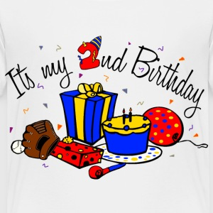 White Its my 2nd birthday-boy Toddler Shirts - Toddler Premium T-Shirt