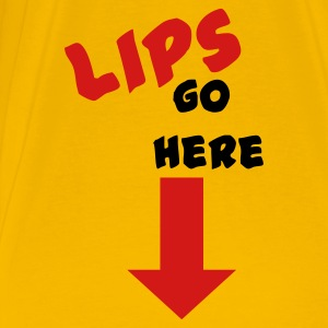 Gold lips go here T-Shirts - Men's Premium T-Shirt