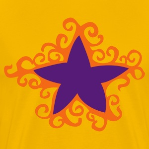 Gold star with outer curls T-Shirts - Men's Premium T-Shirt