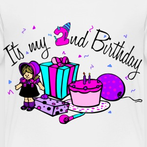 White Its my 2nd Birthday-girl Toddler Shirts - Toddler Premium T-Shirt