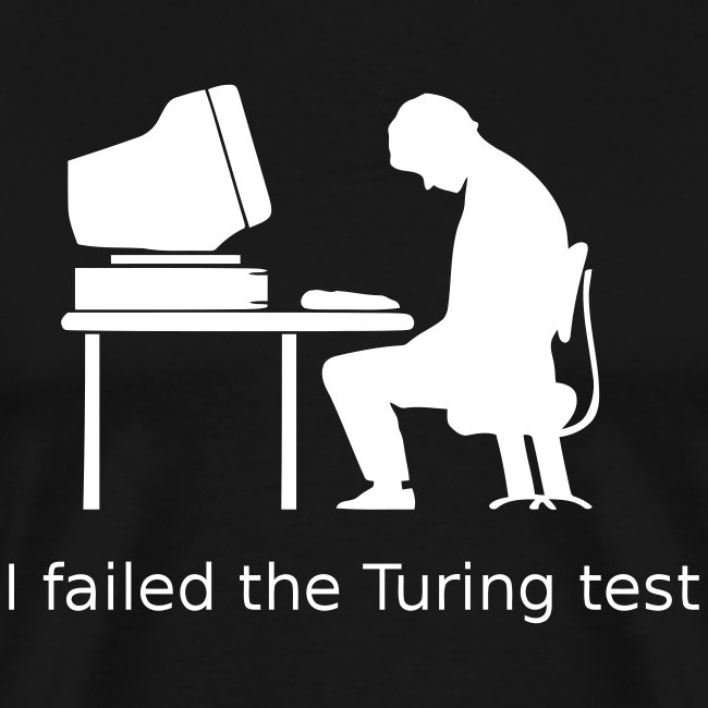 Turing test Tee 3XL (on Dark Choice)