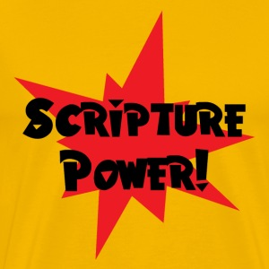Yellow Scripture Power T-Shirts - Men's Premium T-Shirt