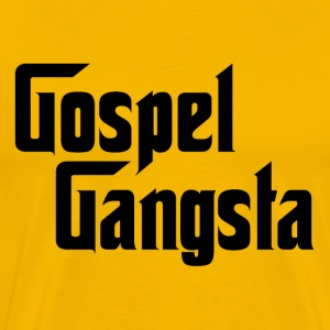 Gold Gospel Gangsta T-Shirts - Men's Premium T-Shirt