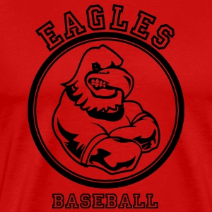 Red Cool eagle Custom Teams Graphic T-Shirts - Men's Premium T-Shirt