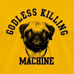 Yellow godless killing machine T-Shirts - Men's Premium T-Shirt