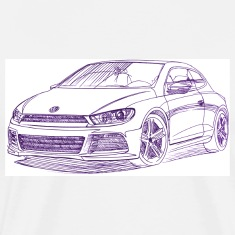 VW Scirocco 2010_sketch T-Shirts