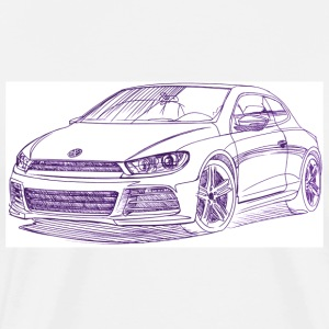 VW Scirocco 2010_sketch T-Shirts - Men's Premium T-Shirt