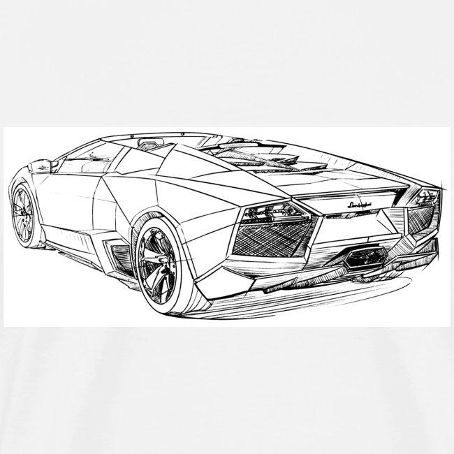 Transportation Sketches Lambo Reventon Mens Premium T Shirt