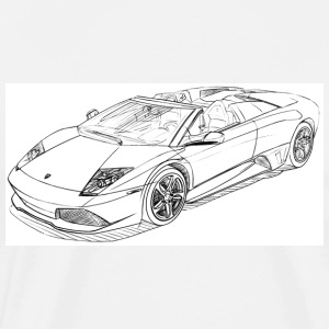 White lambo_lp_640_convertible T-Shirts - Men's Premium T-Shirt