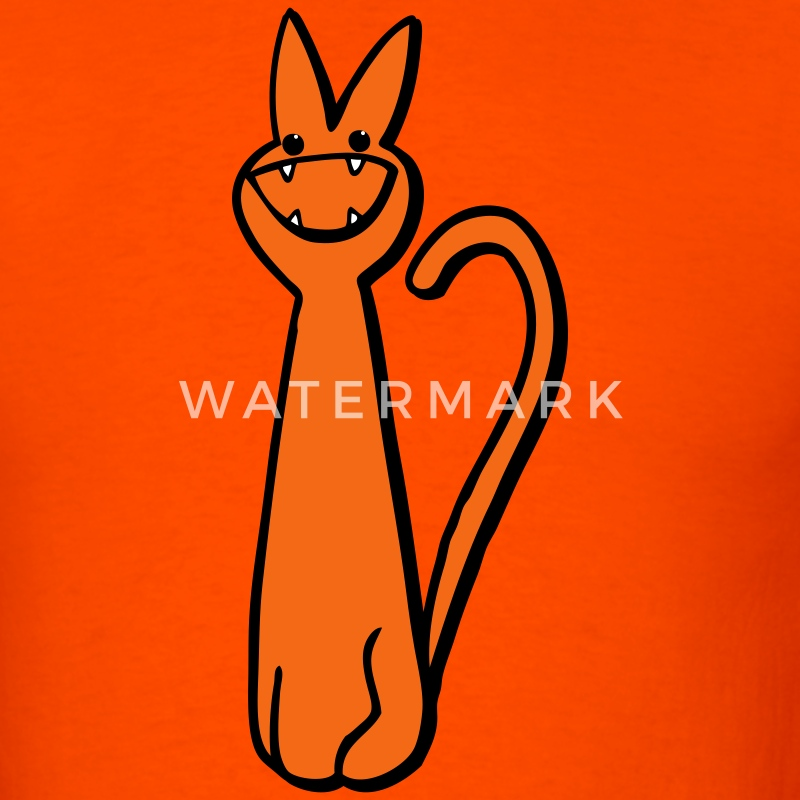 Orange very cute catty pussy cat MEOW! T-Shirts - Men's T-Shirt