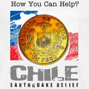 How You Can Help for Chile Earthquake - Men's Premium T-Shirt