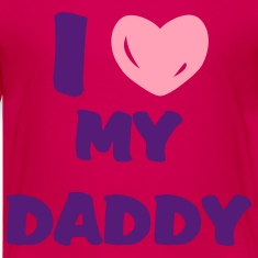 Hot pink i heart daddy Kids' Shirts