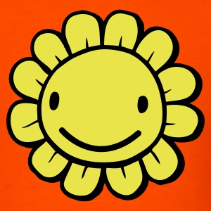 Orange sunflower face so cute with big smile and little petals T-Shirts - Men's T-Shirt