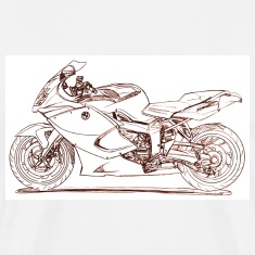 White bm_k1300_s_superbike T-Shirts