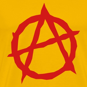 Gold Anarchy T-Shirts - Men's Premium T-Shirt