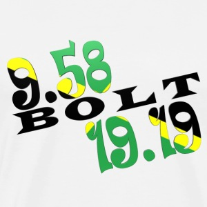 Bolt 2 World Records Jamaican Flag T-shirt - Men's Premium T-Shirt