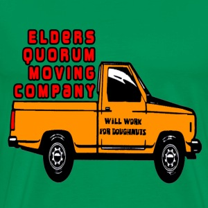 Sage Elders Quorum Moving Company LDS Mormon T-Shirts - Men's Premium T-Shirt