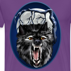 Big Bad Wolf Oval - Men's Premium T-Shirt