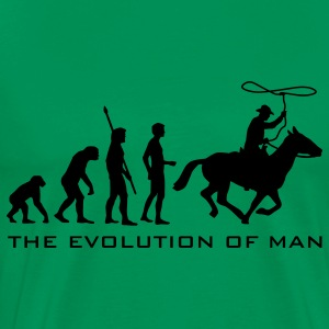 Sage evolution_cowboy_b T-Shirts - Men's Premium T-Shirt