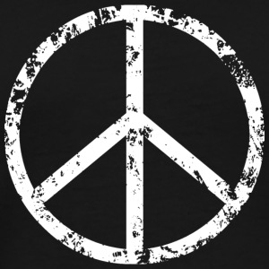 Peace Sign T-Shirt - White on black - Men's Premium T-Shirt