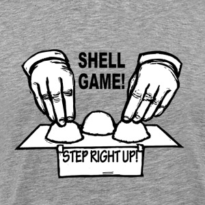 The shell game hustler - Men's Premium T-Shirt
