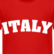 Design ~ Toddler Italy, White on Red