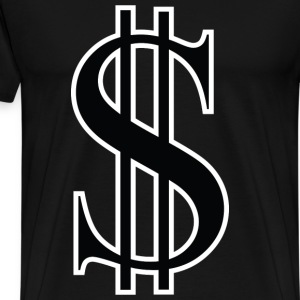 black dollar - Men's Premium T-Shirt
